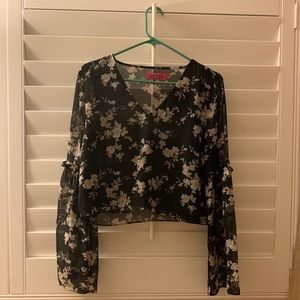 THRIFTED floral long sleeve